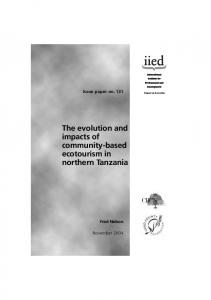 The evolution and impacts of community-based ecotourism in northern Tanzania