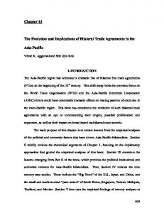 The Evolution and Implications of Bilateral Trade Agreements in the
