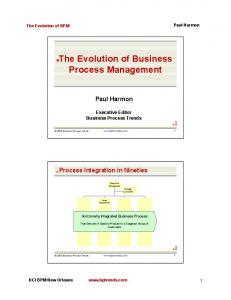 The Evolution of Business Process Management