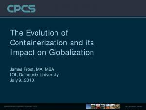 The Evolution of Containerization and its Impact on Globalization