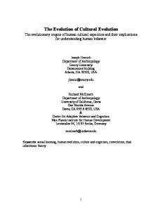 The Evolution of Cultural Evolution