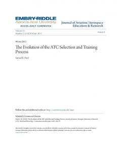 The Evolution of the ATC Selection and Training Process