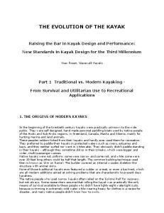 THE EVOLUTION OF THE KAYAK
