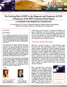 The Evolving Role of BNP in the Diagnosis and Treatment of CHF: A Summary of the BNP Consensus Panel Report