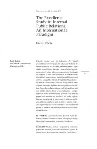 The Excellence Study in Internal Public Relations, An International Paradigm