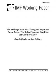 The Exchange Rate Pass-Through to Import and Export Prices: The Role of Nominal Rigidities and Currency Choice