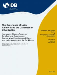 The Experience of Latin America and the Caribbean in Urbanization