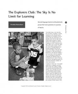 The Explorers Club: The Sky Is No Limit for Learning