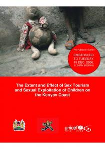 The Extent and Effect of Sex Tourism and Sexual Exploitation of Children on the Kenyan Coast