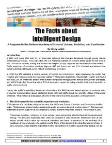 The Facts about Intelligent Design