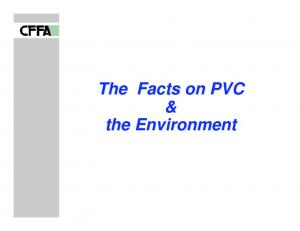 The Facts on PVC & the Environment
