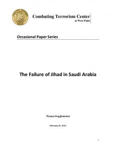 The Failure of Jihad in Saudi Arabia