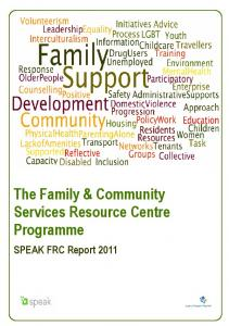 The Family & Community Services Resource Centre Programme
