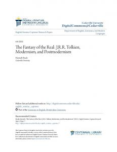 The Fantasy of the Real: J.R.R. Tolkien, Modernism, and Postmodernism