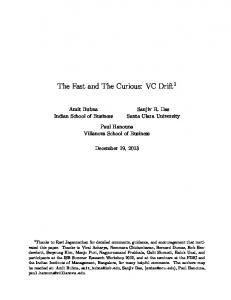 The Fast and The Curious: VC Drift 1