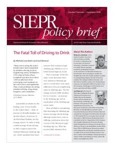 The Fatal Toll of Driving to Drink