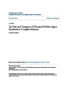 The Fate and Transport of Chemical Warfare Agent Simulants in Complex Matrices