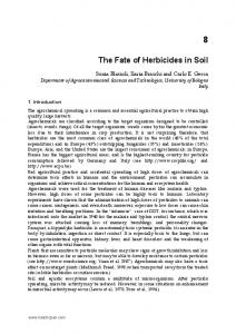 The Fate of Herbicides in Soil