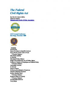 The Federal Civil Rights Act