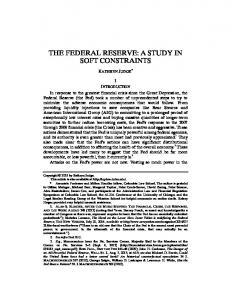 THE FEDERAL RESERVE: A STUDY IN SOFT CONSTRAINTS