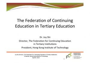 The Federation of Continuing Education in Tertiary Education
