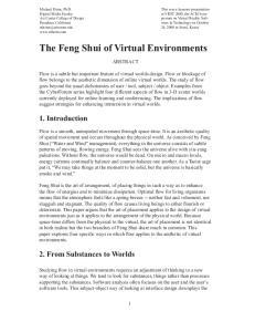 The Feng Shui of Virtual Environments