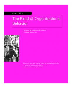 The Field of Organizational Behavior