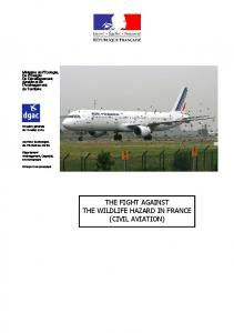 THE FIGHT AGAINST THE WILDLIFE HAZARD IN FRANCE (CIVIL AVIATION)