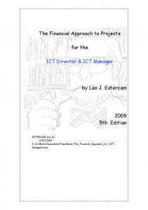 The Financial Approach to Projects. for the. ICT Director & ICT Manager