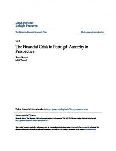 The Financial Crisis in Portugal: Austerity in Perspective