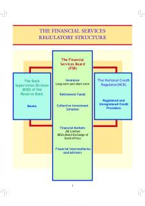 THE FINANCIAL SERVICES REGULATORY STRUCTURE