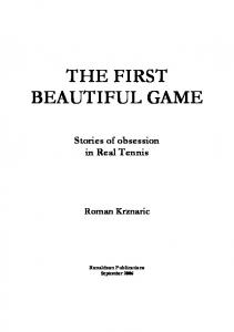 THE FIRST BEAUTIFUL GAME