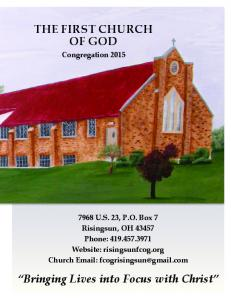 THE FIRST CHURCH OF GOD