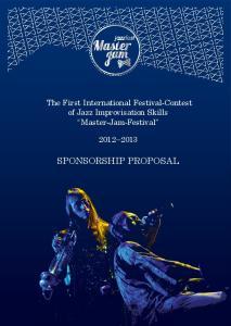 The First International Festival-Contest of Jazz Improvisation Skills Master-Jam-Festival