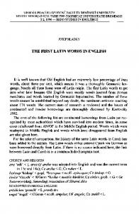THE FIRST LATIN WORDS IN ENGLISH