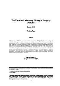 The Fiscal and Monetary History of Uruguay