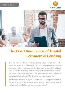 The Five Dimensions of Digital Commercial Lending
