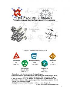 The Five Elements - Platonic Solids