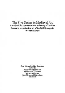 The Five Senses in Medieval Art A study of the representations and rarity of the Five Senses in ecclesiastical art of the Middle Ages in Western