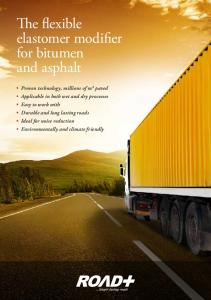 The flexible elastomer modifier for bitumen and asphalt