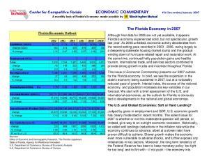 The Florida Economy in 2007