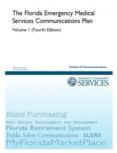 The Florida Emergency Medical Services Communications Plan