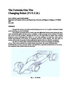 The Formula One Tire Changing Robot (F1-T.C.R.)