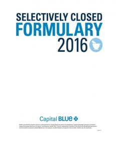 THE FORMULARY HOW TO USE THE FORMULARY