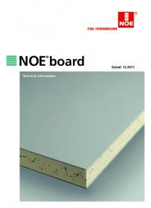 THE FORMWORK NOE. board. Dated: Technical Information
