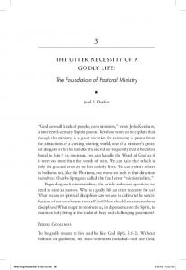 The Foundation of Pastoral Ministry