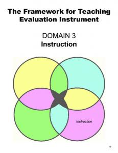 The Framework for Teaching Evaluation Instrument DOMAIN 3. Instruction