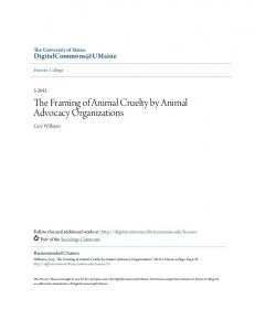 The Framing of Animal Cruelty by Animal Advocacy Organizations