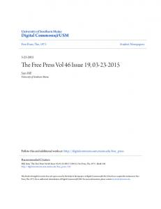 The Free Press Vol 46 Issue 19,