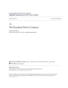 The Freedom Not to Contract
